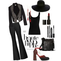 back to black by jellyfish-c on Polyvore featuring Twenty, Haute Hippie, Marni, STS Ranchwear, Rosantica, Eugenia Kim, NARS Cosmetics and Rodial