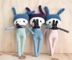 Bunny dolls with secret pocket - rousskine Bunny, Pocket, Dolls, Baby Dolls, Cute Bunny, Puppet, Doll, Rabbit, Baby