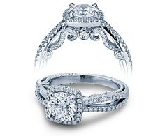 INSIGNIA-7069CU engagement ring from The Insignia Collection of diamond engagement rings by Verragio