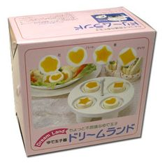 Dream Land Egg Shaper. This is a magical egg shaper that can turn hard boiled eggs into works of art, with the yolk in the shape of diamonds, hearts and stars. $26.00