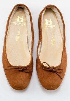 Suede Brown Porselli Ballet Flats -