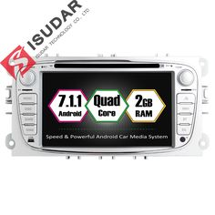 Wholesales! Two Din 7 Inch Car DVD Player Android 7.1 For FORD/Focus/S-MAX/Mondeo/C-MAX/Galaxy Wifi GPS Navigation Radio USB //Price: $384.74 & FREE Shipping //     #navigation