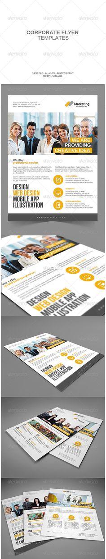 #Corporate #Flyer - Corporate Flyers Download here: https://graphicriver.net/item/corporate-flyer/7793450?ref=alena994