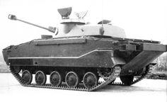 ERAC (Engin de Reconnaissance Amphibie de Combat) - french prototype of light amphibious tank, made in 1961-63