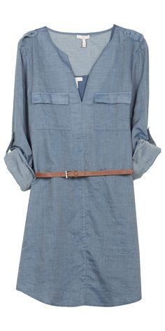 """Rathan"" Denim Shirt Dress by Joie"