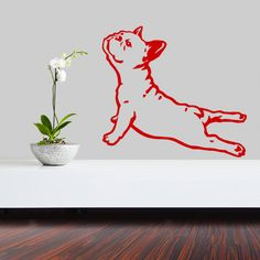 Dog Decal French Bulldog Yoga, Vinyl Sticker Decal - Good for Walls, Cars, Ipads, Mirrors Etc by PSIAKREW on Etsy