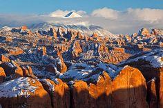 sandstone pinnacles Moab UT