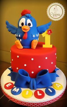 Gallina pintadita cake/ torta gallina pintadita ❤️ Baby Birthday Cakes, Boy First Birthday, 2nd Birthday Parties, Bolo Laura, Bolo Fack, Chicken Cake, Cake Decorating Tips, Childrens Party, Craft Party