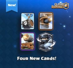 Clash Royale is back with new cards. There are new cards which . going to be released. Mega Knight, Cannon Cart, Skeleton Barrel, Flying Machine.