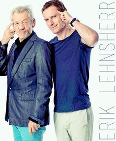 Erik, two generations.     Ian & Michael