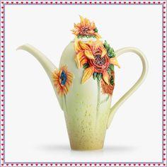 Franz Porcelain Van Gogh Sunflower Teapot