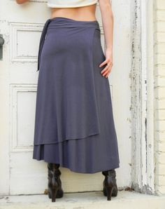 Full Length Wrap Skirt Soy or Bamboo Organic Cotton blend by Violet Star Creations
