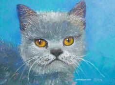 Cat painting animal painting cat art nursery by JanMatsonArt, $85.00