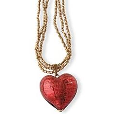 Murano Red Heart Necklace in Holiday 2012 from Uno Alla Volta on shop.CatalogSpree.com, my personal digital mall.