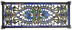 Antoinette Transom Stained Glass Window | 29x11 inches