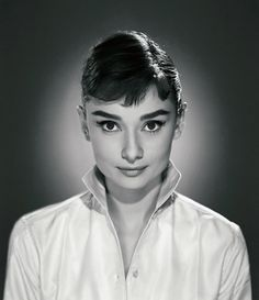 """Audrey Hepburn - Photograph by Jack Cardiff, 1956.  """"Audrey had a perfect face and her ballet training made her walk with sleek grace. She radiated elegance. It was a joy to work with her on War and Peace.""""  - Jack Cardiff"""
