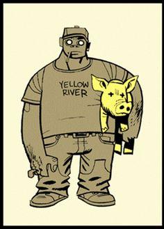 Russel (Unsigned) by Jamie Hewlett Gorillaz Damon Albarn, Russel Gorillaz, Jamie Hewlett Art, Monster Museum, Russel Hobbs, Monkeys Band, Gorillaz Art, Tank Girl, Comic Book Artists