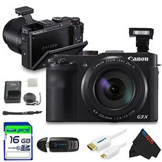 Canon PowerShot G3 X Digital Camera   16 GB Pixi-Basic Accessory Bundle ** Details can be found by clicking on the image.