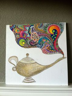 abstract Genie lamp. $35.00, via Etsy.