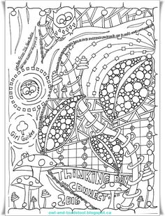 World Thinking Day doodle by Lee Ann… Adult Coloring, Coloring Pages, Brownie Guides, World Thinking Day, Scout Activities, Girl Guides, Girl Scouts, Line Art, Special Events