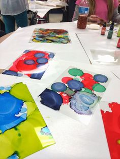 Art @ Massac: Abstract Art Rubbing alcohol and alcohol ink art