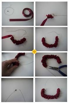 Burgundy Ribbon Necklace. | Operation DIY