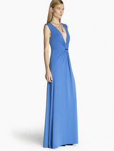 Twist Drape Gown