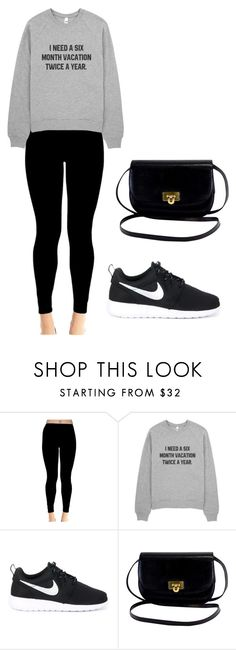 """""""Lazy/ sick day outfit"""" by laurenbloss ❤ liked on Polyvore featuring NIKE"""
