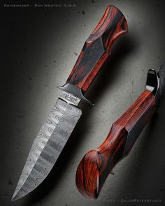 "Knife Model: ""Cocobolo Elephant Hunter"" Blade Length: 6 3/4"" Overall Length: 12 1/2"" Blade Material: Diamond damascus with double grind Handle: Premium exhibition grade Cocobolo wood featuring the new 15 facet handle grind"