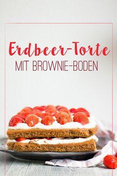 Erdbeer-Torte mit zwei Schichten und saftigem Schoko-Boden | Strawberry-Cake with two layers and a yummy chocolate base - ÜberSee-Mädchen
