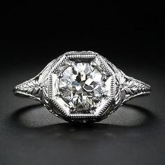 1.06 Carat Diamond Antique Engagement Ring