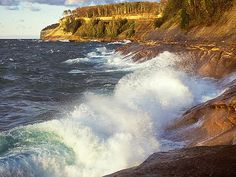 Lake Superior waves ~ the largest fresh water lake in the world!