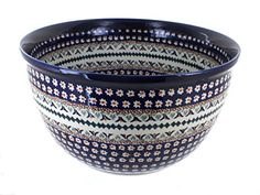 Polish Pottery Daisy Large Mixing Bowl *** Click image to review more details.(This is an Amazon affiliate link and I receive a commission for the sales)
