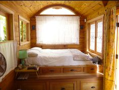 Is this your dream tiny house bedroom?
