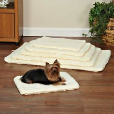 Double-Sided Sherpa Pet Crate Mats