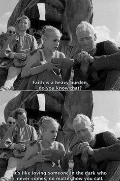 Seventh Seal directed by Ingmar Bergman, starring Gunnar Björnstrand, Bengt Ekerot, Nils Poppe, and Max Von Sydow. Bergman Movies, Bergman Film, Ingmar Bergman, Cinema Quotes, Film Quotes, Max Von Sydow, The Seventh Seal, Dark Quotes, Come Undone