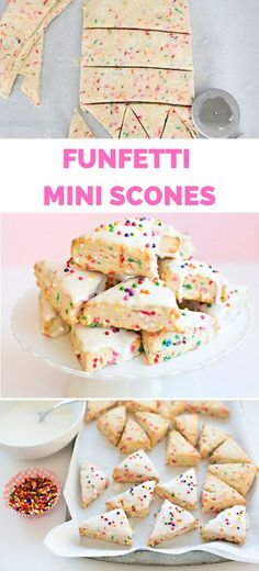 These homemade Funfetti Mini Scones are fun for any celebration! A less sugary treat to cake or cupcakes for kids' birthday parties.