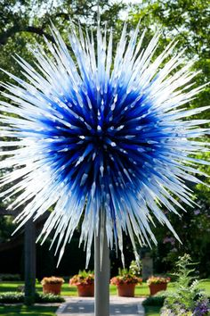 Chihuly - Dallas Arboretum  I have to go see his work in person-one of my favorite artists.