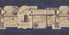 Bathroom Wallpaper Vintage Bathrooms And Wallpaper Borders On Pinterest