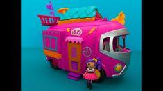 Lalaloopsy play set. Motorhome and lalaloopsy music star. Toys for kids