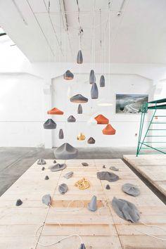 Marset - Pleat Box ceramic & craft suspension lighting by Xavier Mañosa from Apparatu & Mashallah Interior Lighting, Modern Lighting, Lighting Design, Ceramic Light, Ceramic Pendant, Ceramic Lamps, Luminaire Applique, Spanish Design, Ceramic Studio