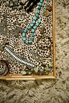 leopard print tray