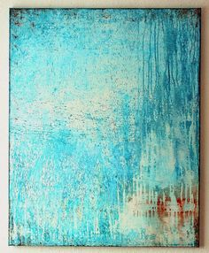 Falling blue, acrylic on canvas, 2014 by Christian Hetzel Christian Hetzel, Art Texture, Canvas Art Projects, Art Of Living, Art Design, Abstract Wall Art, Oeuvre D'art, Painting Inspiration, Amazing Art