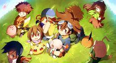 "digi-egg:"" デジモンアドベンチャー by Maro"" Digimon Seasons, Digimon Frontier, Digimon Tamers, Digimon Adventure Tri, Strange Places, All Art, Webtoon, Manhwa, Anime Art"