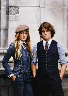 Fall/Winter 2010 Lookbook from Ralph Lauren Rugby. Contemporary denim with a preppy twist for the guys and a more country/retro vibe for the women.