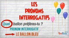 """This is """"Les pronoms interrogatifs"""" by laclassebleueTV on Vimeo, the home for high quality videos and the people who love them. French Class, Teaching French, Learn French, Journal, Learning, Languages, Awesome, French Nails, Blue Balloons"""