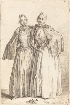 Chodowiecki, Daniel Nikolaus German, 1726 - 1801 Two Standing Ladies (Demoiselles Quantin) 1758