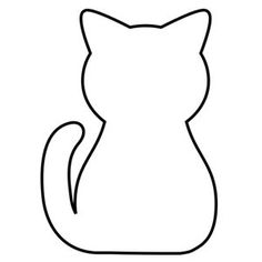 free applique pattern - cat