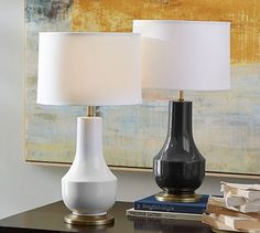 Table lamp options. Would be nice if we could find something with an accent color.