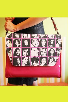 Its takes a real diva to carry this 'Diva' bag!  Ofcourse you're a diva, thats why you're having a look at this bag right now!  You know what to do, right? Go ahead, don't flinch, buy this one, and show the world that you're at par with all these divas who've been ruling Bollywood!  Material: Printed PVC.